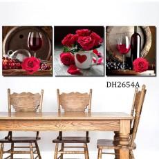 Tranh gương 3 bức tranh nhà bếp MC141