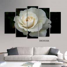 Tranh ghép bộ phong cảnh 5 bức hoa hồng DH3018A