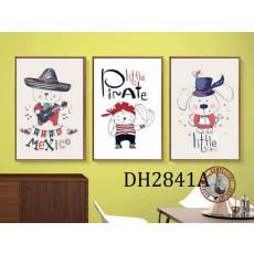 Tranh treo tường 3 bức tranh DH2841A