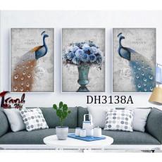 Tranh treo tường nghệ thuật Chim Công DH3138A