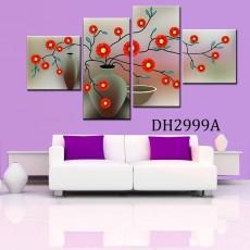 Tranh bộ nghệ thuật treo tường 4 bức DH2999A