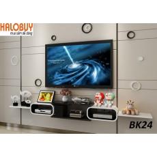 Kệ gỗ trang trí phòng khách BK24