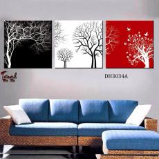 Tranh treo tường 3 bức nghệ thuật DH3034a