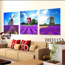 Tranh treo tường 3 bức phong cảnh nghệ thuật DH3115A