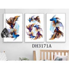 Tranh treo tường 3 tấm nghệ thuật DH3171A