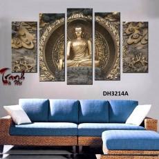 Tranh gương 5 bức Đức Phật MC07
