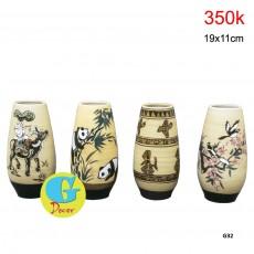 Bộ lọ hoa gốm trang trí G32