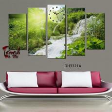 Tranh ghép bộ nghệ thuât 5 bức phong cảnh DH3321A