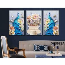 Tranh treo tường nghệ thuật Chim Công DH3683A