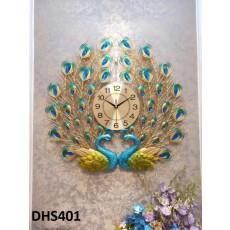 Đồng hồ trang trí chim công phú quí DHS401