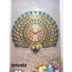Đồng hồ trang trí chim công phú quí DHS402