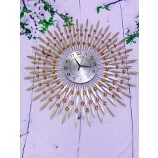 Đồng hồ trang trí mặt trời vàng DHS314