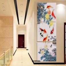 Tranh treo tường 3 bức nghệ thuật   DH4058A