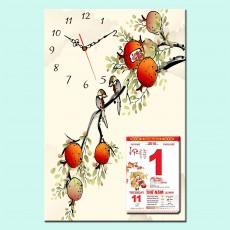 Mẫu tranh lịch đồng hồ TL43