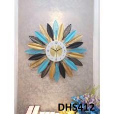 Đồng hồ trang trí lá mặt trời DHS412