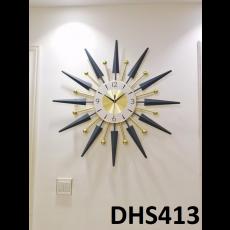 Đồng hồ trang trí lá mặt trời DHS413
