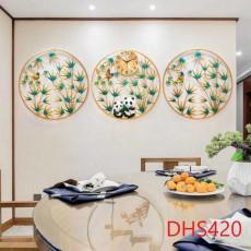 Đồng hồ trang trí bộ 3 trúc bình an DHS420