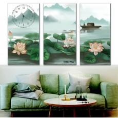 Tranh đồng hồ, tranh treo tường nghệ thuật DH4279A