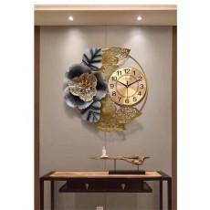 Đồng hồ trang trí lá decor DHS444