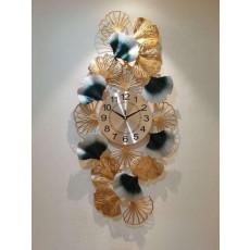 Đồng hồ trang trí lá decor DHS453