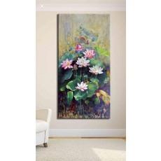 Tranh Canvas, tranh treo tường HOA SEN CVS45B