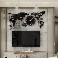 Đồng hồ bản đồ thế giới DHS460