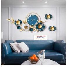 Đồng hồ trang trí lá decor DHS462