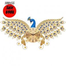 Đồng hồ trang trí chim công DHS465