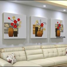 Tranh đồng hồ, tranh treo tường 3 bức nghệ thuật DH4713A