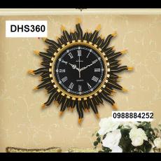 Đồng hồ trang trí điêu khắc phù điêu  DHS360