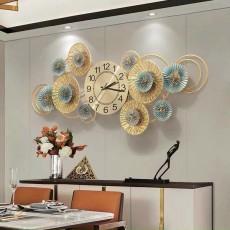 Đồng hồ trang trí lá decor DHS475