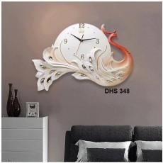 Đồng hồ trang trí điêu khắc phù điêu  DHS348