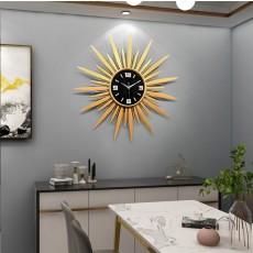 Đồng hồ trang trí tia mặt trời vàng DHS490