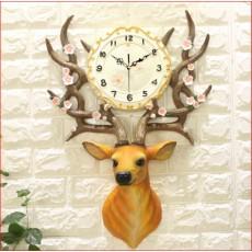 Đồng hồ trang trí điêu khắc phù điêu  DHS492