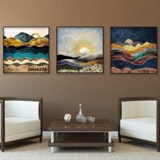 Tranh đồng hồ, tranh treo tường 3 bức nghệ thuật DH4927A