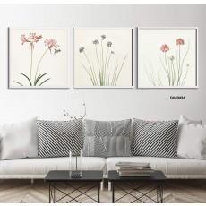 Tranh đồng hồ, tranh treo tường 3 bức nghệ thuật DH4949A