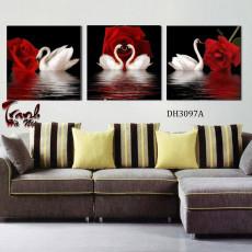 Tranh treo tường 3 bức nghệ thuật DH3097A