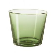 Cốc thủy tinh thấp IKEA DIOD màu xanh rêu