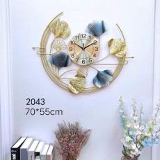 Đồng hồ trang trí lá decor DHS508