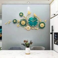 Đồng hồ trang trí lá decor DHS511