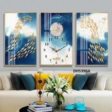 Tranh đồng hồ, tranh treo tường nghệ thuật DH5396A