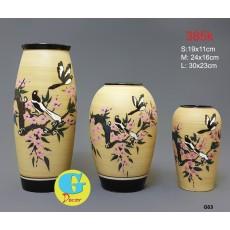 Bộ lọ hoa gốm trang trí G63