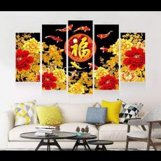 Tranh Canvas, tranh treo tường 5 bức  CVS67B