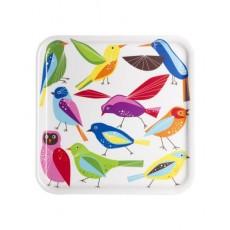 Khay vuông IKEA BARBAR họa tiết chim