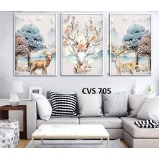 Tranh Canvas, tranh treo tường nghệ thuật Hươu CVS705