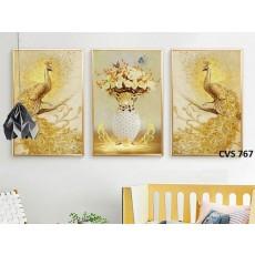 Tranh Canvas, tranh treo tường chim công phú quí CVS767