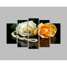 Tranh đồng hồ hoa Hồng tình yêu DH1154A (kích thước 150x90cm)