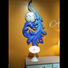 Đồng hồ trang trí điêu khắc phù điêu  DHS486