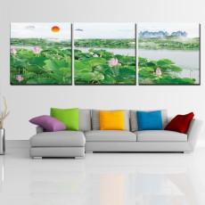 Tranh treo tường 3 bức phong cảnh DH2452A (120x40cm)