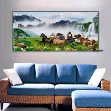 Tranh Canvas, tranh treo tường Mã Đáo thành công  CVS880
